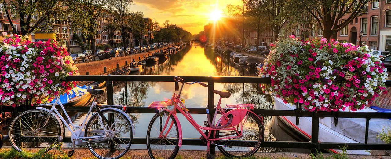 amsterdam, canaux, canal, vélo, centre-ville